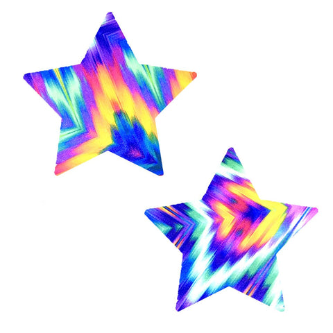 Aztec Rave UV Starry Night Nipztix Pasties, Star Pasties - NevaNude