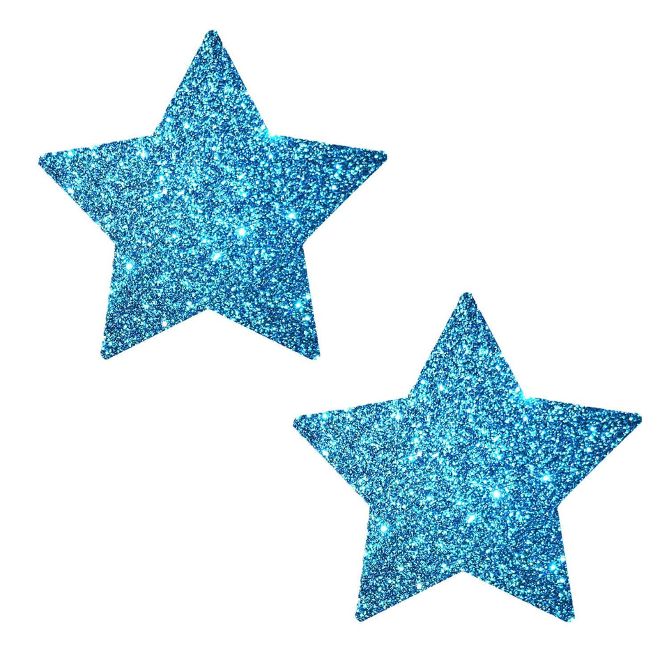 Bowie Blue Glitter Starry Nights Pasties