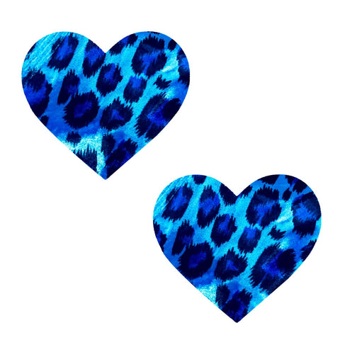 Blue cheetah nipple cover, Neva Nude