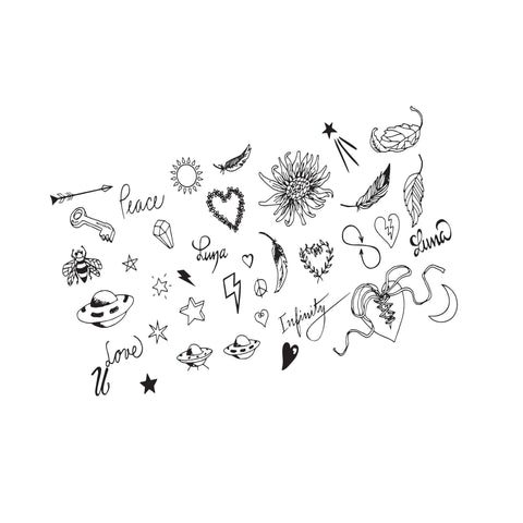 Pick 'N Mix Large Temporary Tattoo Pack