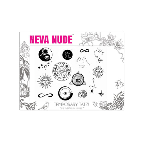Zodiac Large Temporary Tattoo Pack