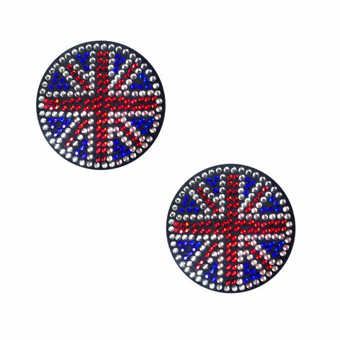 YEAH BABY! Black Union Jack Crystal Reusable Silicone Nipztix