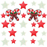 Peppermint Candy Cane Glitter Starry Nights Sticker Top