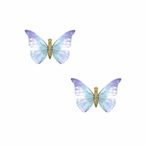 Blue Bell Butterfly Hair Clip 2 Pack