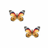 Orange Monarch Butterfly Hair Clip 2 Pack