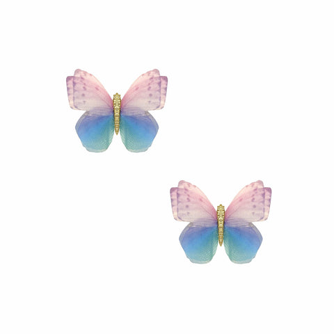 Perfect Pastel 2 Layer Butterfly Hair Clip 2 Pack
