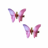 Beautiful Butterfly 2 Layer Hair Clip 2 Pack