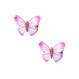 Pink Princess 2 Layer Butterfly Hair Clip 2 Pack