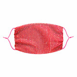 Edge of Glorie Hot Neon Pink Mesh Jewel Face Mask With Adjustable Loops