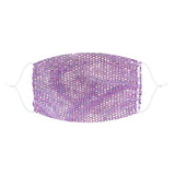 Dona Tell-ya Lavender Mesh Jewel Face Mask With Adjustable Loops