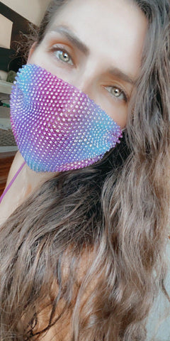 Electrik Chapel Mesh Jewel Face Mask With Adjustable Loops