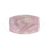 $$$ Honey Rose Gold Pink Mesh Jewel Face Mask With Adjustable Loops