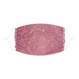Stupid Love Salmon Pink Mesh Jewel Face Mask With Adjustable Loops