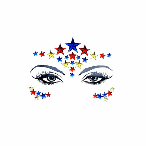 American Beauty Crystal Jewel BodiStix In Your Face Edition, Crystal Body Sticker - NevaNude