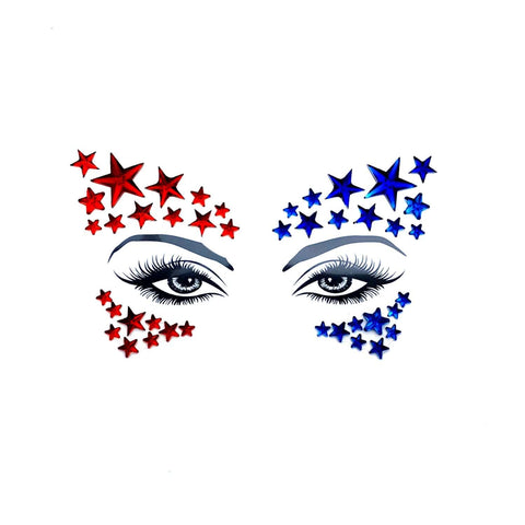 Americana Crystal Jewel BodiStix In Your Face Edition, Crystal Body Sticker - NevaNude