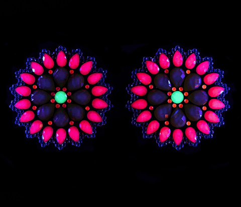 Mayan Warrior Neon UV Crystal Jewel Nipztix Pasties