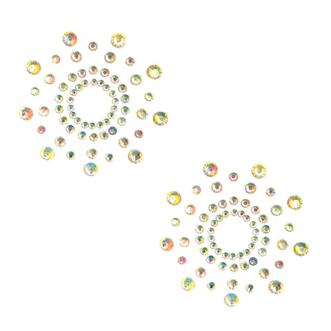 Iridescent crystal nipple pasties, Neva Nude