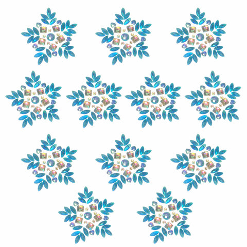 Let it Show Blue Iridescent Snowflake Crystal BodiStix