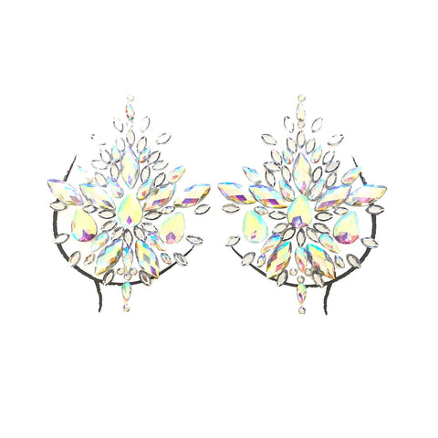 Frozen Crystal Jewel Nipztix Pasties, Crystal Pasties - NevaNude