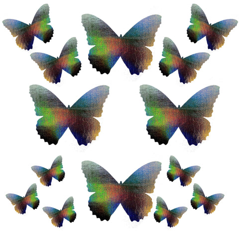 Dark Descent Holographic Butterfly Sticker Top