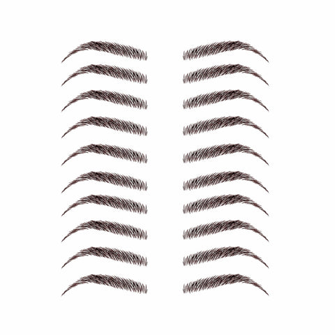 Dark Brown Temporary Eyebrow Packs 10 Pairs