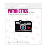 retro camera patch sticker, FabStix