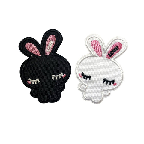 cute bunnies patch sticker, FabStix