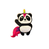 Panda Unicorn Iron On Patch Sticker, FabStix