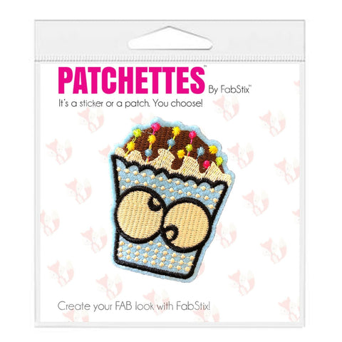 Cake iron on patch sticker, FabStix