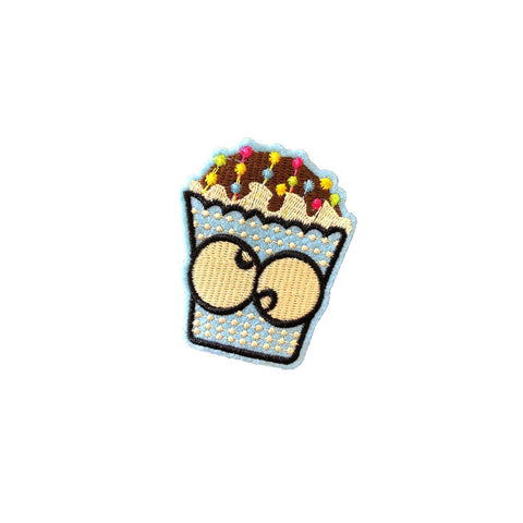 Cupcake Iron on patch sticker, FabStix