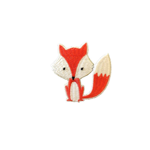 Cute fox patch and sticker, FabStix