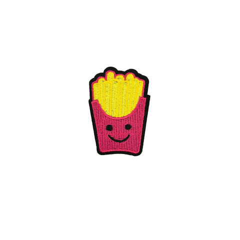 French fry iron on patch sticker, FabStix