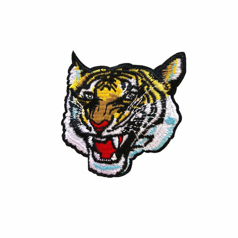 Tiger Growl Iron On Patch, FabStix