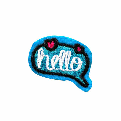 Hello iron on patch sticker, FabStix