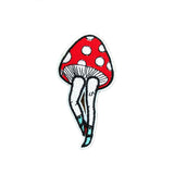 mushroom iron on patch sticker, FabStix