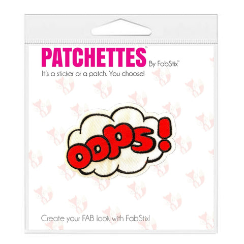oops patch sticker, FabStix