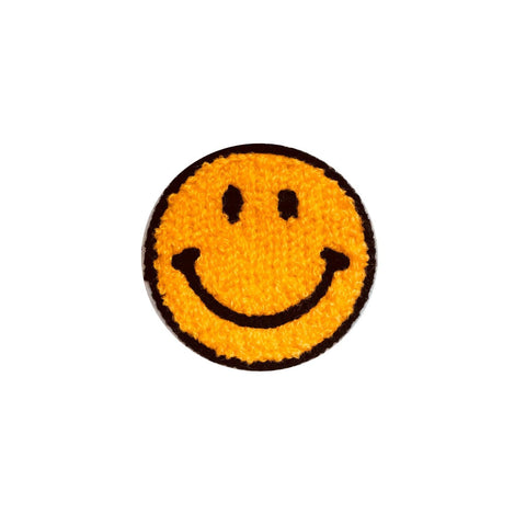 Smiley face iron on patch sticker, FabStix