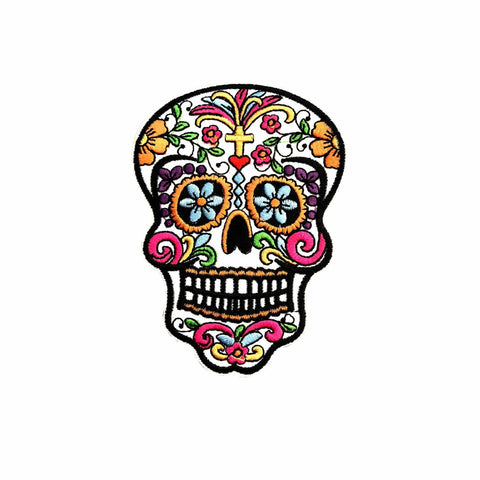 day of the dead patch sticker, FabStix