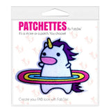 Hula unicorn iron on patch sticker, FabStix