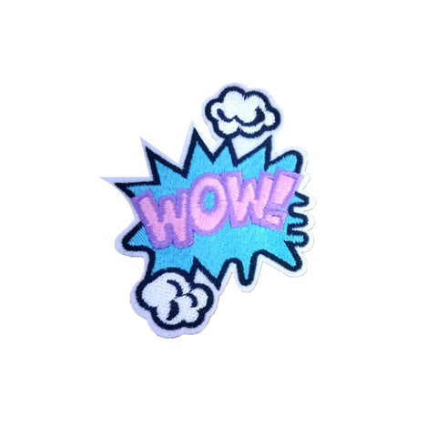 WOW iron on patch sticker, FabStix