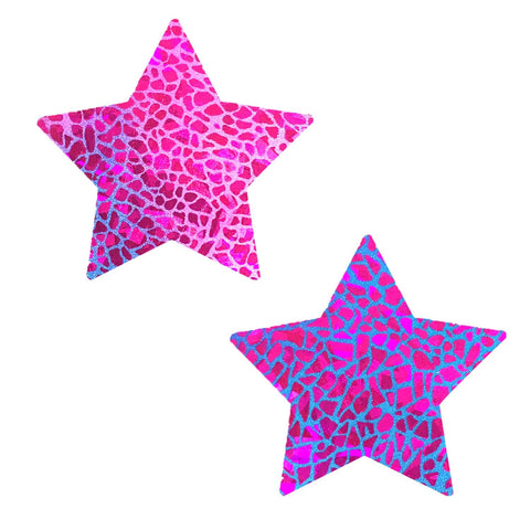Eragon UV Holographic Starry Nights Pasties, Star Pasties - NevaNude