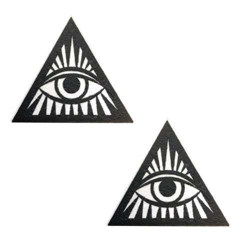 Third Eye Triange Black Glitter Pasties