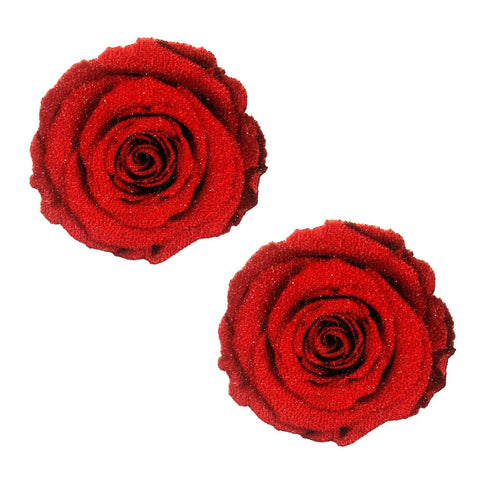 Red rose nipple pasties cover, Neva Nude