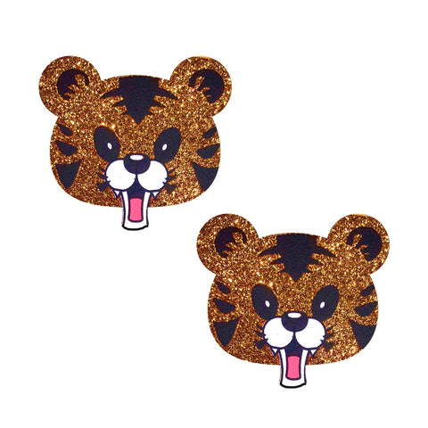 Cat tiger nipple rave pasties, Neva Nude