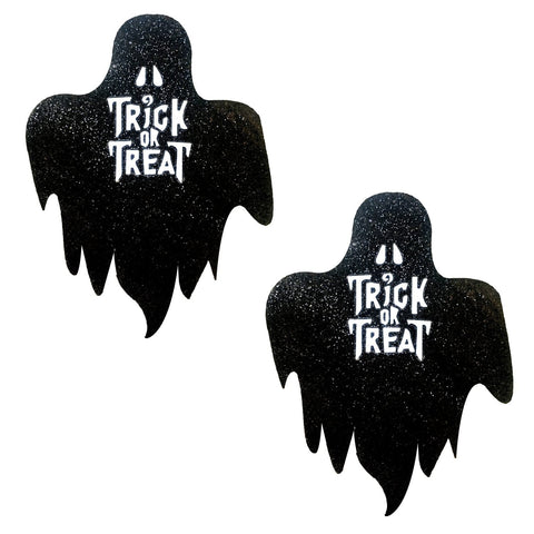Freaking Awesome Glitter Blacklight Trick Or Treat Nipztix, Halloween Nipple Pasties - NevaNude