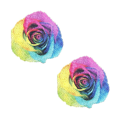Pride Flower Rose Nipple Pasties, Neva Nude