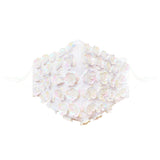 White Pearl Flower Face Masks With Filter Pocket