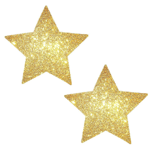 Gold Fairy Dust Glitter Starry Nights Pasties, Star Pasties - NevaNude