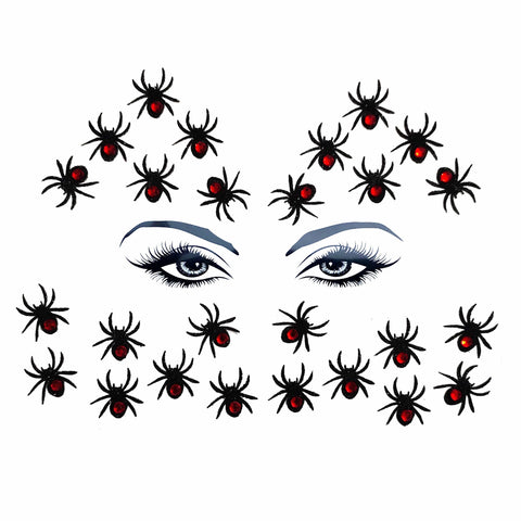 Black Widow Glitter Crystal Spider Body and Face Stix