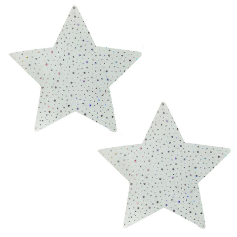 Glow Supernova Holographic Twinkle Starry Nights Pasties, Star Pasties - NevaNude